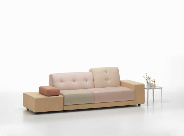 Swiss Vitra Polder Sofa in Pastel Shades by Hella Jongerius For Sale
