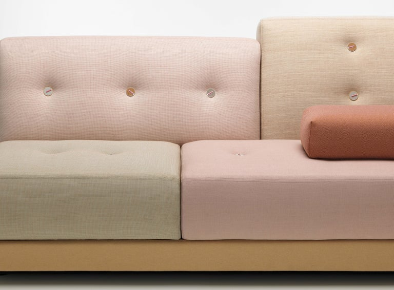 Contemporary Vitra Polder Sofa in Pastel Shades by Hella Jongerius For Sale