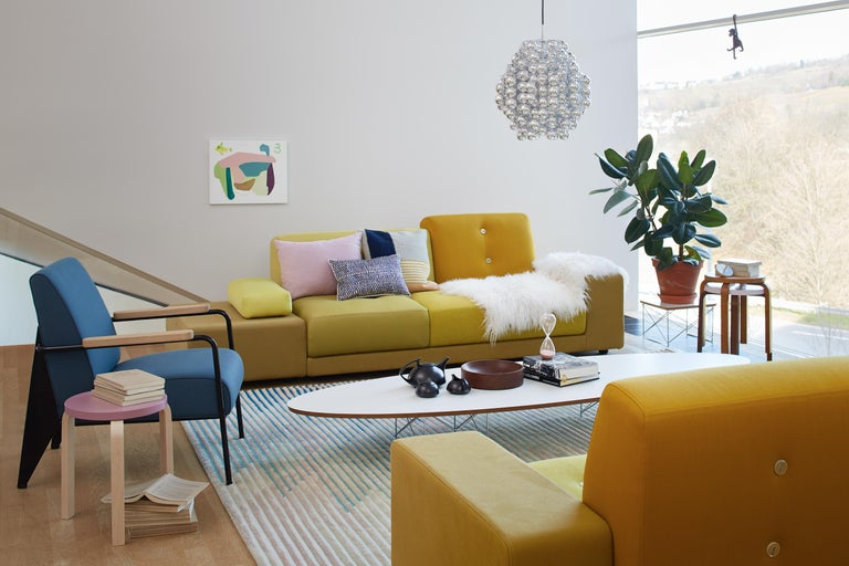 Upholstery Vitra Polder Sofa in Pastel Shades by Hella Jongerius For Sale