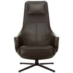 Vitra Repos Lounge Chair in Chocolate Leather by Antonio Citterio