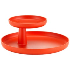 Vitra Rotary Tray in Poppy Red by Jasper Morrison