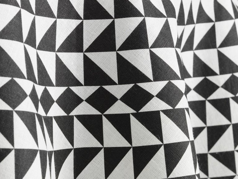 Modern Vitra Round Tablecloth in Black Geometric by Alexander Girard, 1stdibs New York For Sale