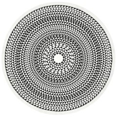 Vitra Round Tablecloth in Black Geometric by Alexander Girard, 1stdibs New York