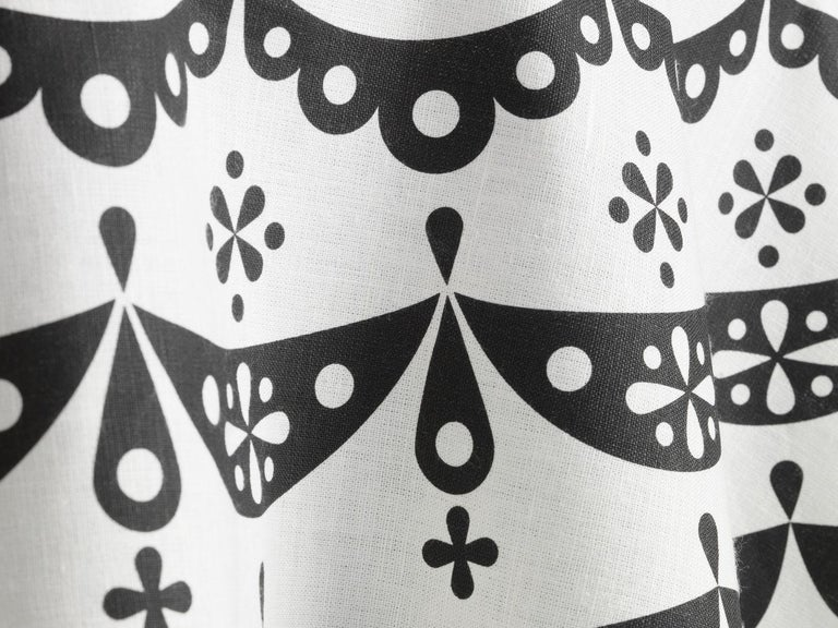 Modern Vitra Round Lace Tablecloth in Black by Alexander Girard For Sale