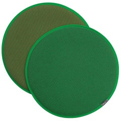 Vitra Seat Dot Cushion in Classic Green, Forest & Cognac by Hella Jongerius