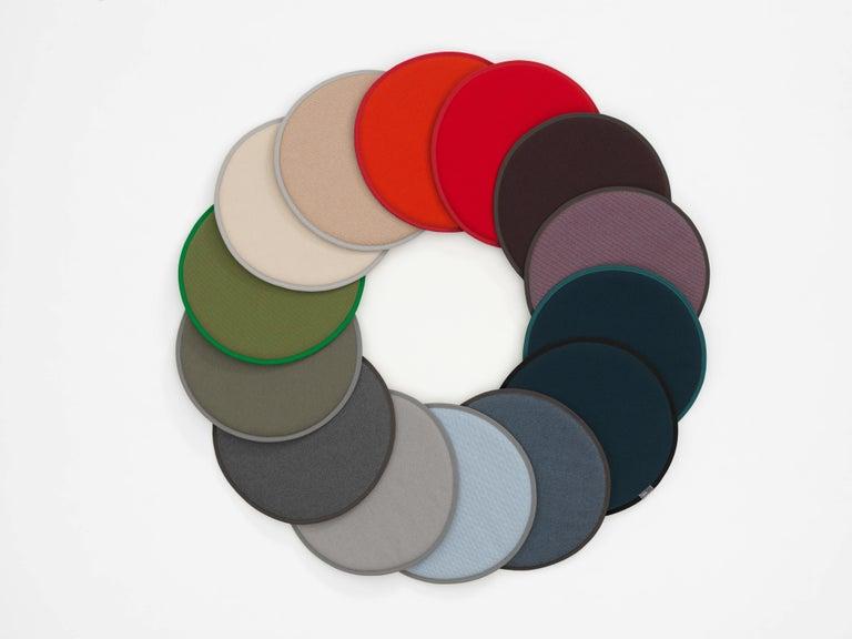 Fabric Vitra Seat Dot Cushion in Dark Grey and Nero, Maroon & Nero by Hella Jongerius For Sale