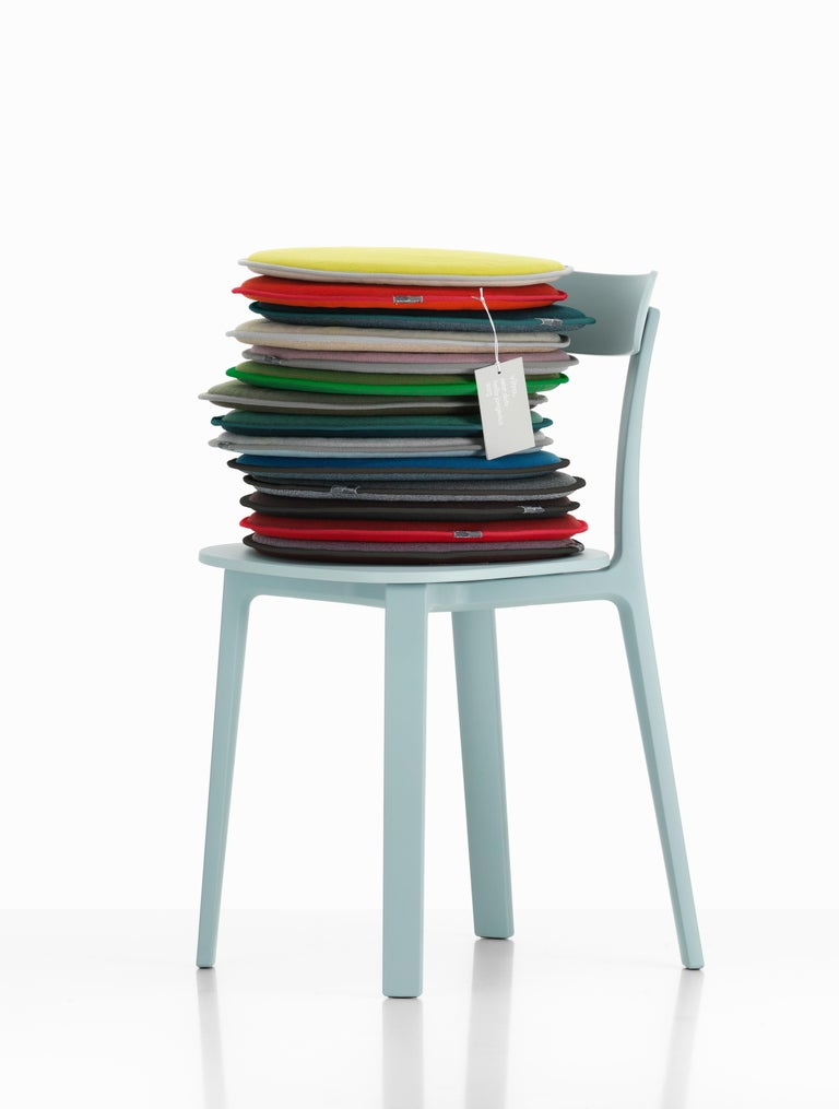 Modern Vitra Seat Dot Cushion in Nero & Ice Blue, Petrol and Nero by Hella Jongerius For Sale