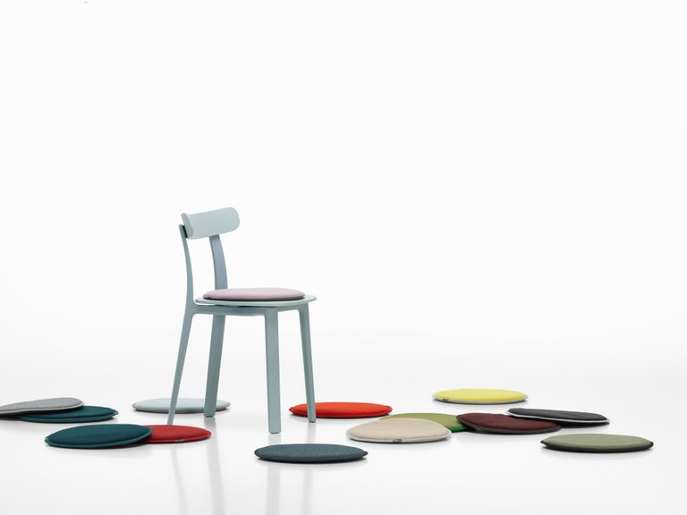 Swiss Vitra Seat Dot Cushion in Nero & Ice Blue, Petrol and Nero by Hella Jongerius For Sale