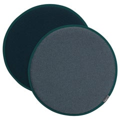 Vitra Seat Dot Cushion in Nero & Ice Blue, Petrol and Nero by Hella Jongerius