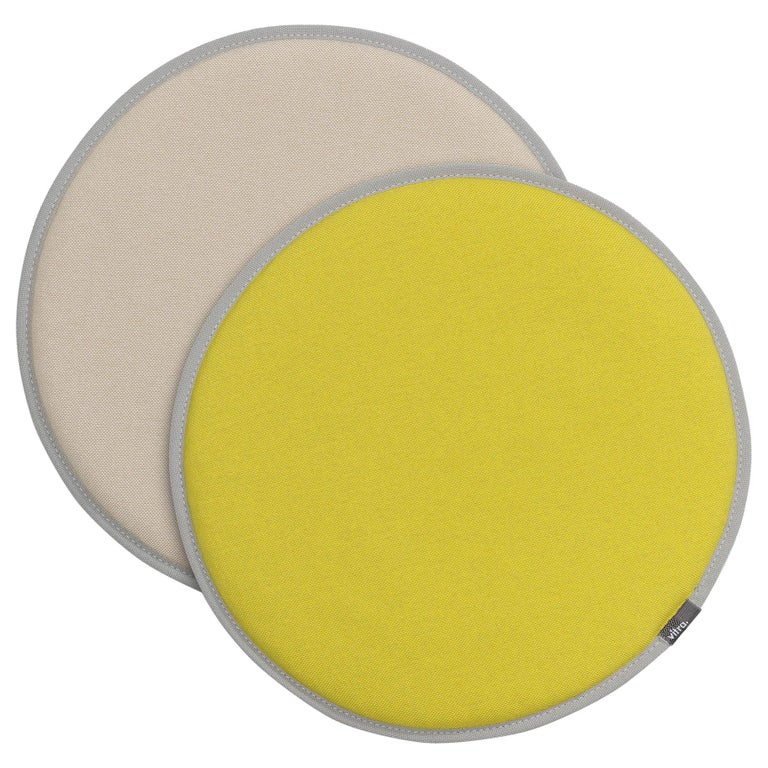 Vitra Seat Dot Cushion in Yellow, Green, Parchment & Cream by Hella Jongerius For Sale