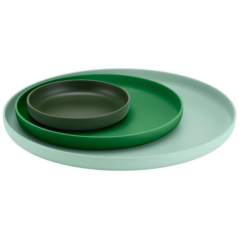 Vitra Set of Three Trays in Green by Jasper Morrison For Sale