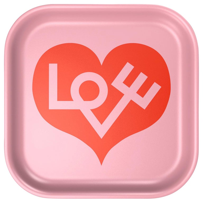 Vitra Small Classic Tray in Love Heart Design by Alexander Girard For Sale