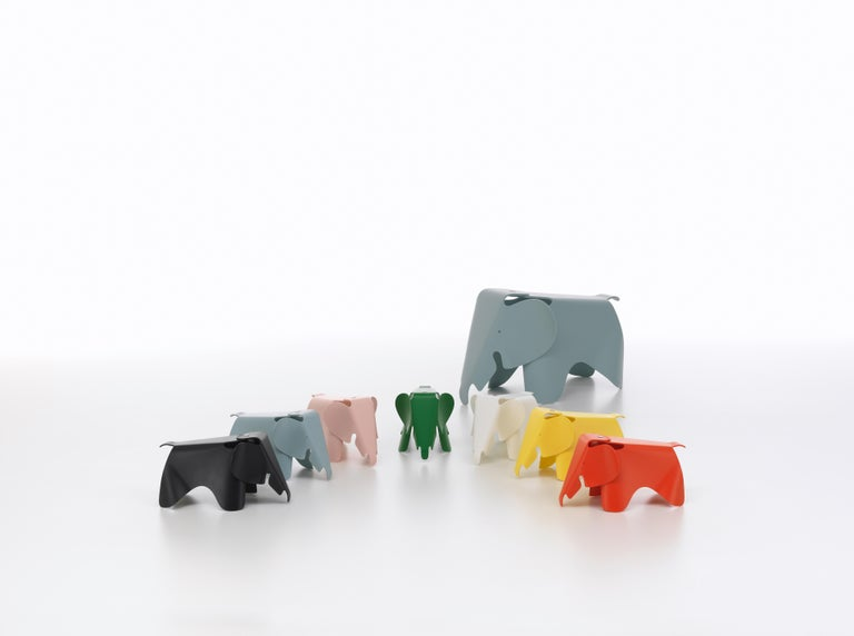 Modern Vitra Small Eames Elephant in Buttercup by Charles & Ray Eames For Sale
