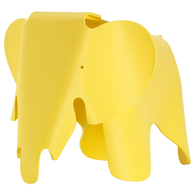 Vitra Small Eames Elephant in Buttercup by Charles & Ray Eames For Sale