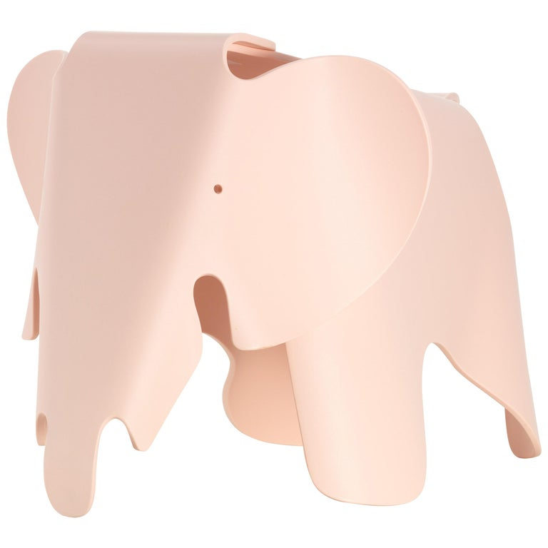 Vitra Small Eames Elephant in Pale Rose by Charles & Ray Eames For Sale