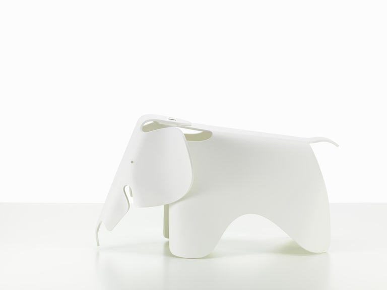 Plastic Vitra Small Eames Elephant in White by Charles & Ray Eames For Sale