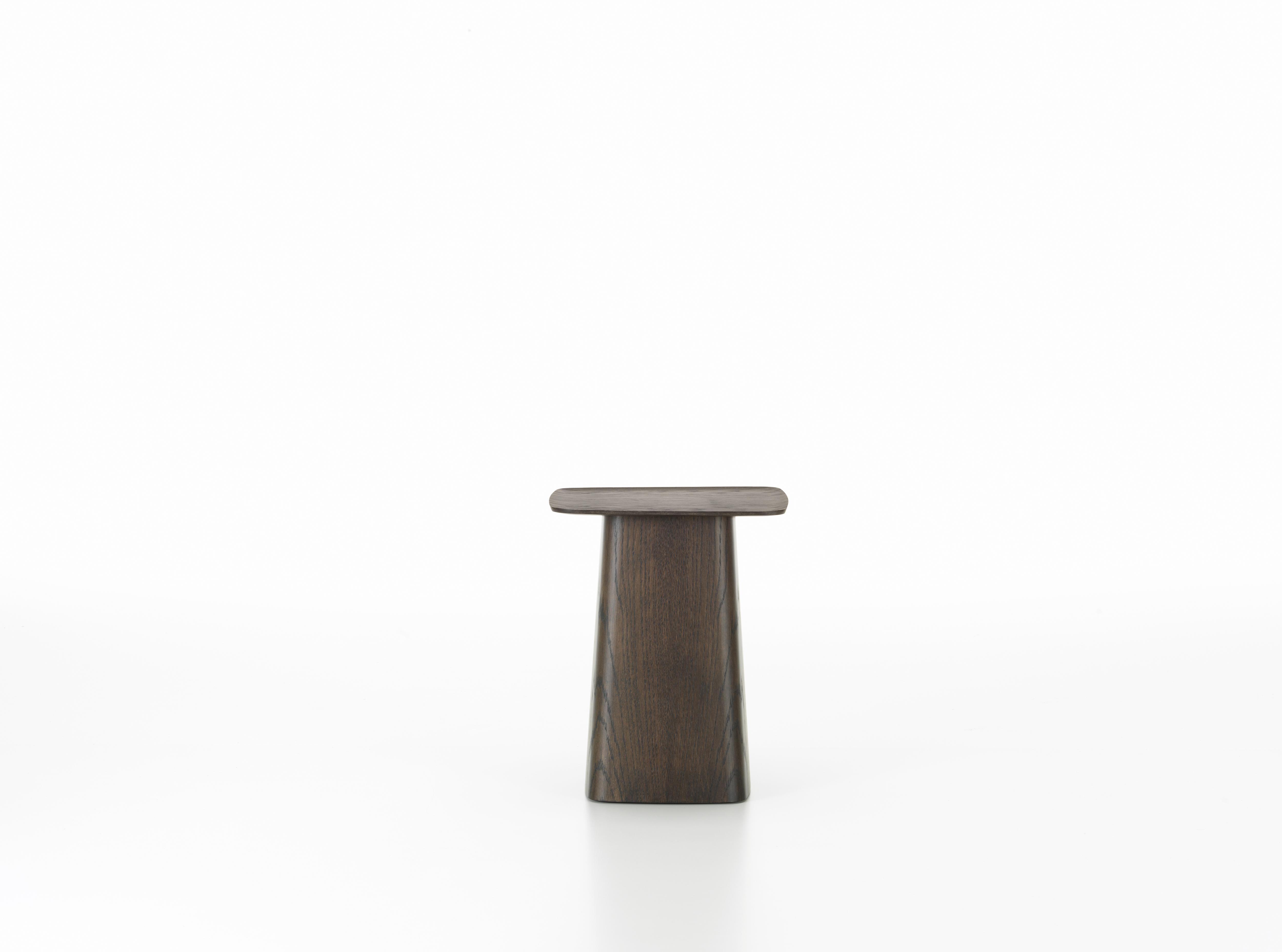 Vitra Small Wooden Side Table In Dark Oak By Ronan Erwan Bouroullec