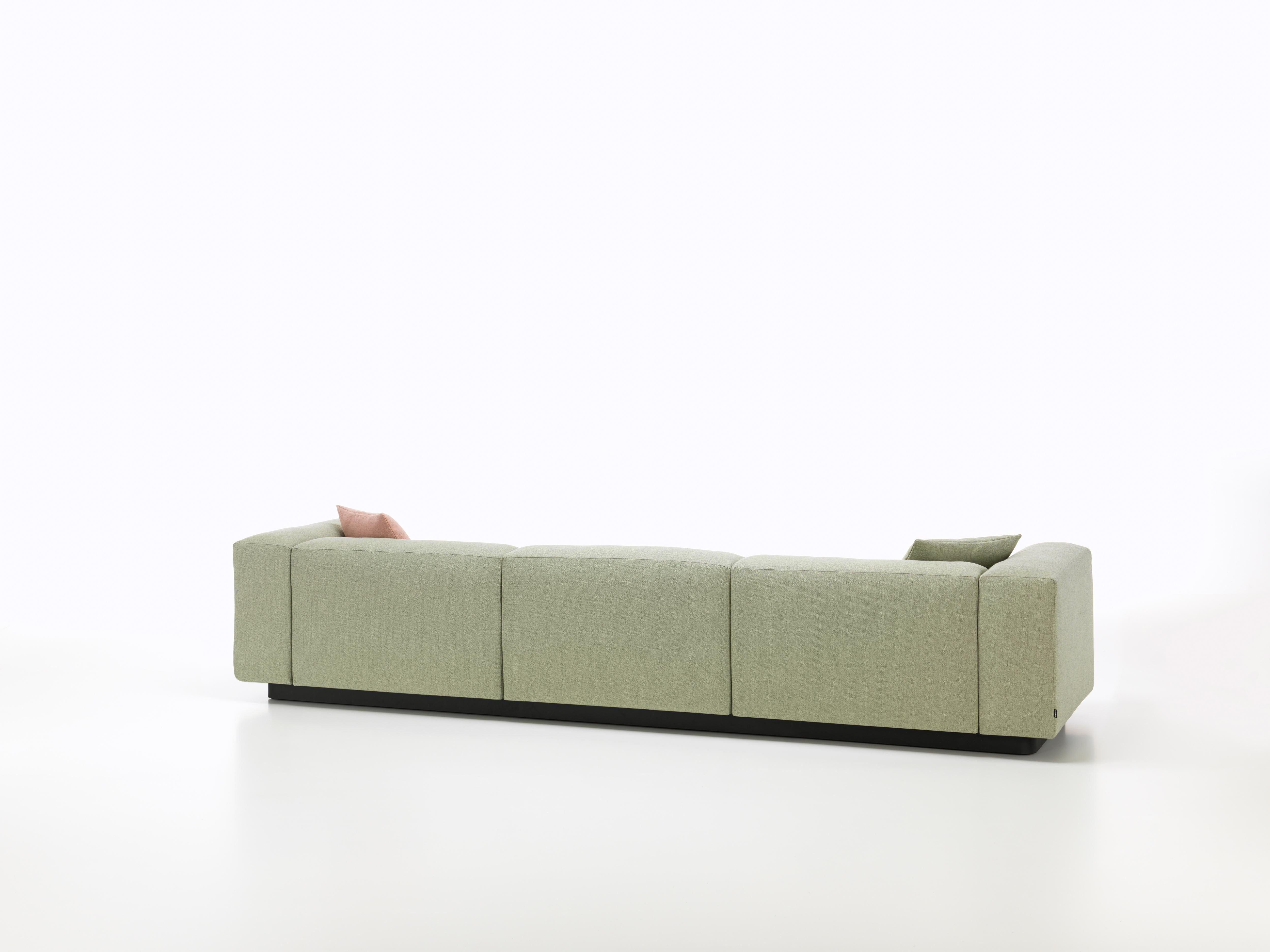 Vitra Soft Modular 3 Seat Sofa In Sage And Pebble Dumet By Jasper Morrison For Sale At 1stdibs
