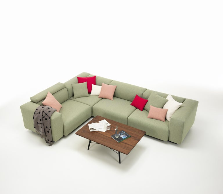 Vitra Soft Modular Sofa with Corner in Sage and Pebble Dumet by ...