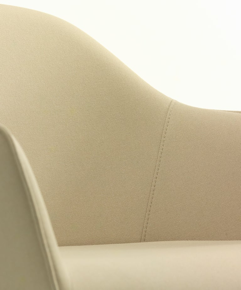 Swiss Vitra Soft Shell Chair in Ivory Laser by Ronan & Erwan Bouroullec For Sale