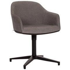 Vitra Softshell Fabric Armchair Gray Swivel Chair