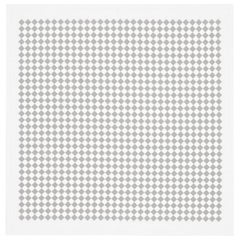 Vitra Square Checker Tablecloth in Gray by Alexander Girard