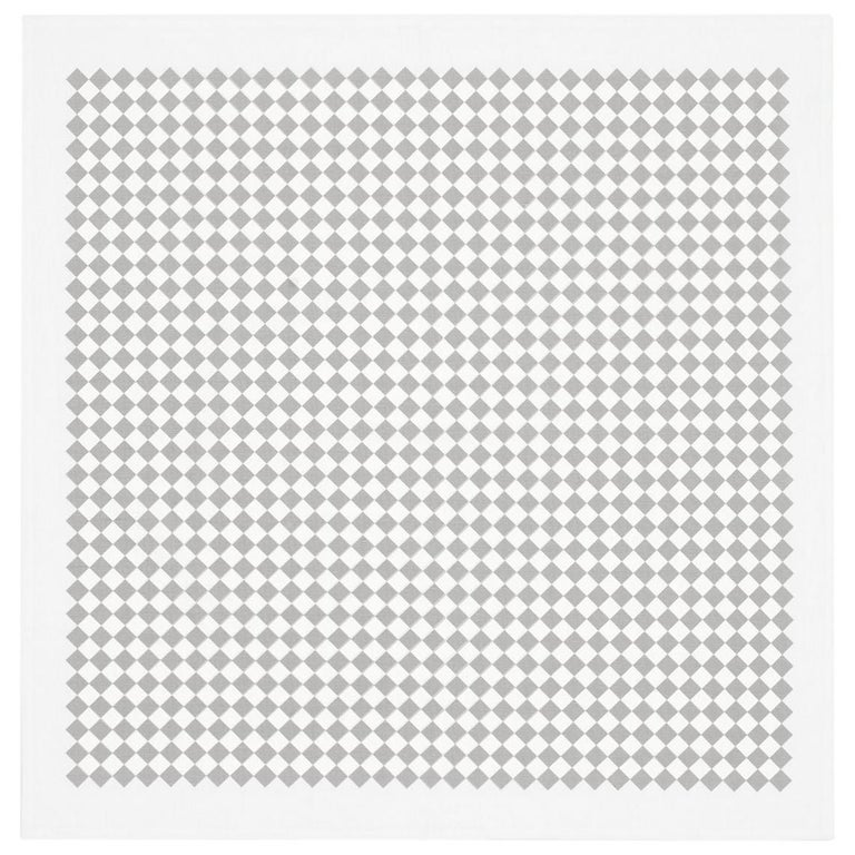 Vitra Square Checker Tablecloth in Gray by Alexander Girard For Sale