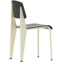 Vitra Standard Chair in Dark Oak & Ecru by Jean Prouvé