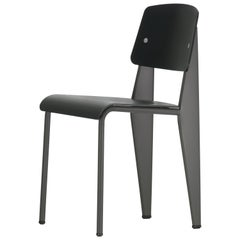 Vitra Standard SP Chair in Deep Black and Basalt by Jean Prouvé