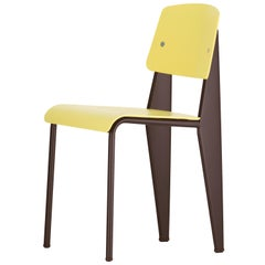 Vitra Standard SP Chair in Lemon & Chocolate by Jean Prouvé