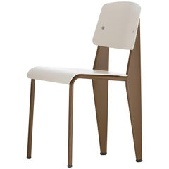Vitra Standard SP Chair in Warm Grey and Coffee by Jean Prouvé
