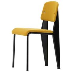 Vitra Standard SR Stuhl in Canola und Tiefschwarz von Jean Prouvé
