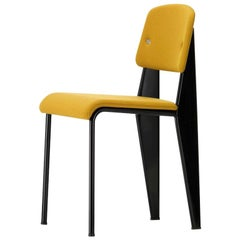 Vitra Standard SR Chair in Canola and Deep Black by Jean Prouvé