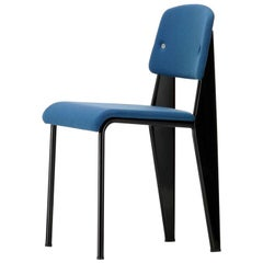 Vitra Standard SR Chair in Indigo and Deep Black by Jean Prouvé