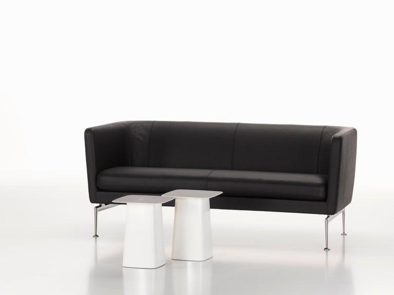 Modern Vitra Suita Club Sofa in Nero Leather by Antonio Citterio For Sale