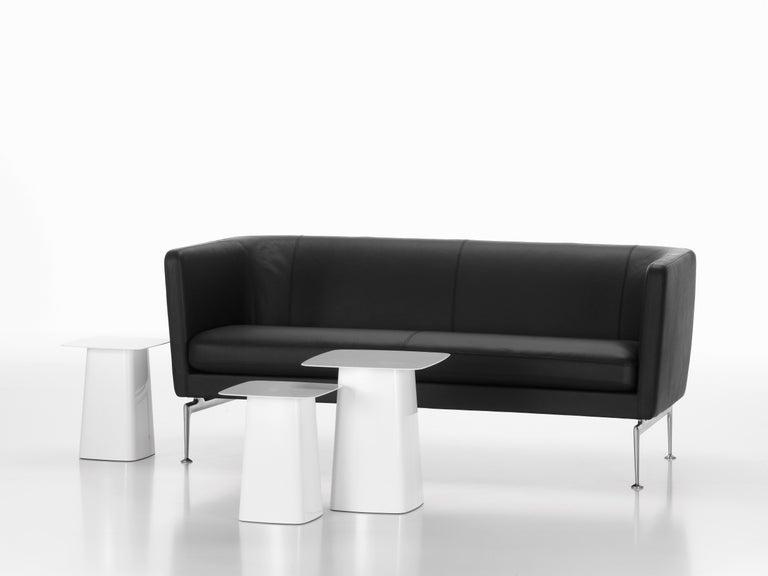 Swiss Vitra Suita Club Sofa in Nero Leather by Antonio Citterio For Sale