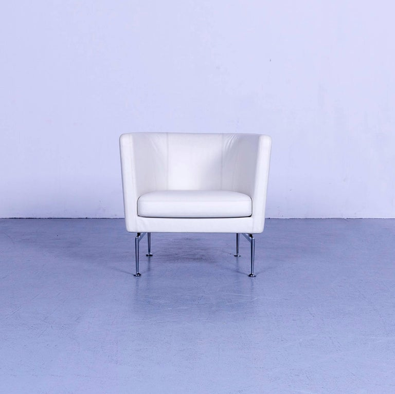 We bring to you an Vitra Suita leather armchair white one-seat.