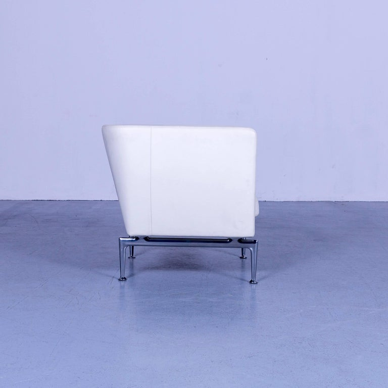 Vitra Suita Leather Armchair White One-Seat 2