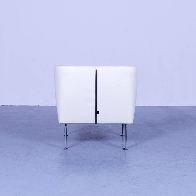 Vitra Suita Leather Armchair White One-Seat 3