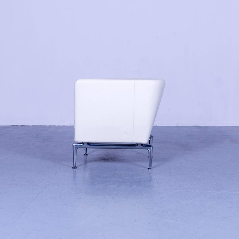 Vitra Suita Leather Armchair White One-Seat 4