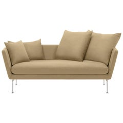 Vitra Suita Sofa Two-Seat in Parchment Olimpo by Antonio Citterio