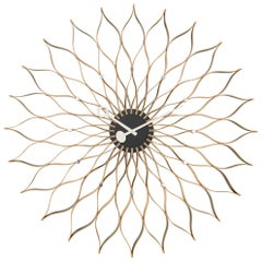 Vitra Sunflower Wall Clock in Birch Wood by George Nelson