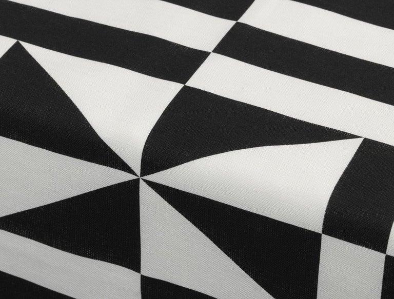 Modern Vitra Table Runner in Black Geometric Pattern by Alexander Girard For Sale