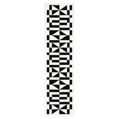 Vitra Table Runner in Black Geometric Pattern by Alexander Girard