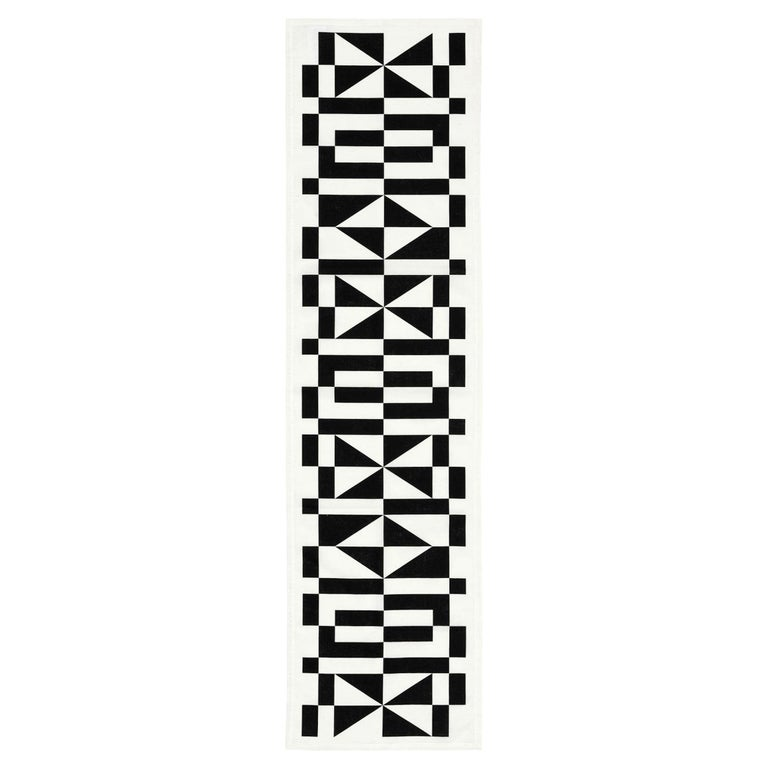 Vitra Table Runner in Black Geometric Pattern by Alexander Girard For Sale
