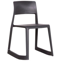 Vitra Tip Clay Designer Polypropylene Plastic Chair Gray by Edward Barber
