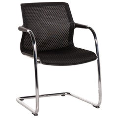 Vitra Unix Chair Fabric Chair Black Cantilever Dining Chair