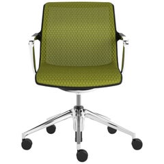 Vitra Unix Five-Star Base Chair in Avocado Diamond Mesh by Antonio Citterio