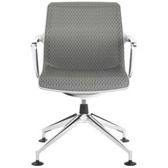Vitra Unix Four-Star Base Chair in Mauve Grey Diamond Mesh by Antonio Citterio