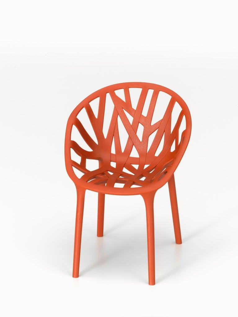 Modern Vitra Vegetal Chair in Brick by Ronan & Erwan Bouroullec